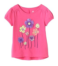 Mix & Match Girls' 2T-6X Floral Puff Sleeve Tee