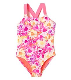 Mambo® Girls' 2T-6X Sunrise Floral One Piece