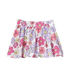 Mix & Match Girls' 2T-6X Floral Print Scooter Skirt