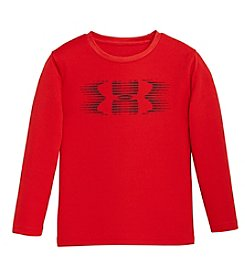 Under Armour® Boys' 2T-7 Speed Logo Long Sleeve Crew Neck Top