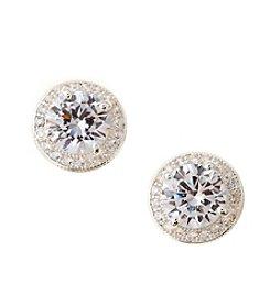 Napier® Silvertone Cubic Zirconia Stud Earrings