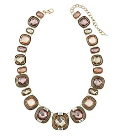 Napier® Goldtone and Pink Collar Necklace