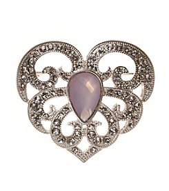 Napier® Boxed Goldtone Heart Pin