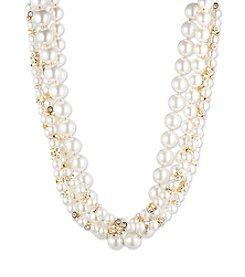 Anne Klein® Goldtone Pearl Torsade Necklace