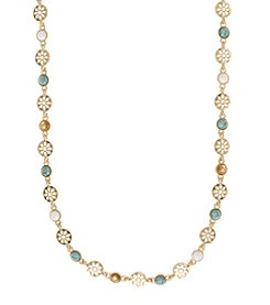 Nine West Vintage America Collection® Goldtone and Turquoise Collar Necklace