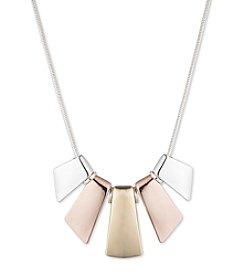 Nine West® Tri-tone Frontal Necklace