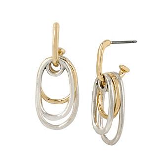 Robert Lee Morris Soho™ Shaky Two-Tone Oval Drop Earrings
