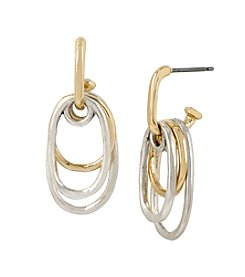Robert Lee Morris Soho™ Shaky Two-Tone Oval Drop Earrings
