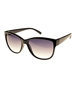 Relativity® Cat Eye With Metal Detail Sunglasses