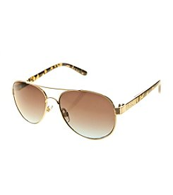 Relativity® Aviator Sunglasses With Tortoise Temples
