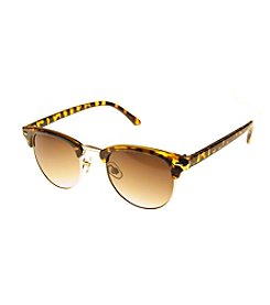 Relativity® Tortoise With Shiny Goldtone Metal Sunglasses
