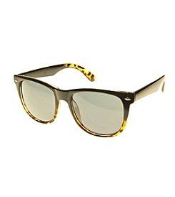 Relativity® Plastic Wayfarer Large Black Ombre Tortoise Sunglasses