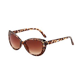 Steve Madden Cat Eye With Stones Sunglasses