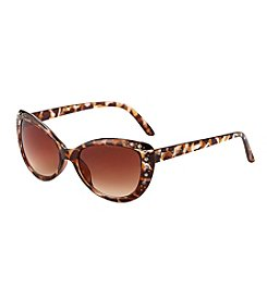 Steve Madden Cat Eye With Stones Sunglasses