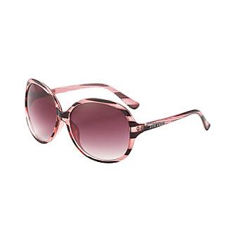 Steve Madden Round Striped Sunglasses