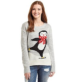 Jolt® Skating Penguin Sweater