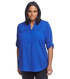 Calvin Klein Plus Size Mid-Length Sleeve Top