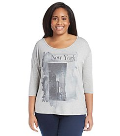 Relativity® Plus Size New York Graphic Tee