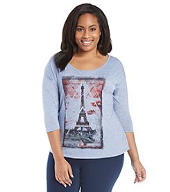 Relativity® Plus Size Paris Frame Tee