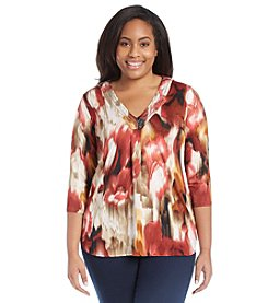 Notations® Plus Size Knit Tunic