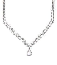 Balentino® Sterling Silver White Swarovski® Cubic Zirconia Necklace
