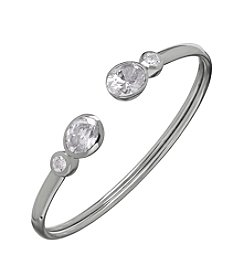 Balentino® Sterling Silver White Swarovski® Cubic Zirconia Bangle