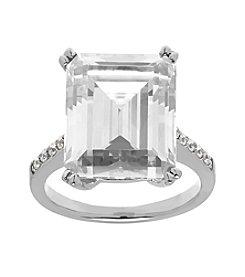 Balentino® Sterling Silver White Swarovski® Cubic Zirconia Ring