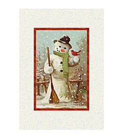 Image Arts® Cardinal & Snowman Box Of 40 Cards With Designed Envelopes
