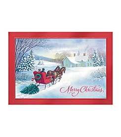 Image Arts® Sleigh & Tree Scene Box Of 40 Cards With Designed Envelopes