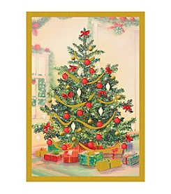 Image Arts® Tree & Presents Box Of 40 Cards With Designed Envelopes