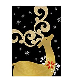 Image Arts® Snowy Reindeer Box Of 40 Cards With Designed Envelopes