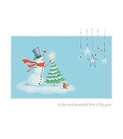 Image Arts® Snowman Star Box Of 40 Cards With Designed Envelopes