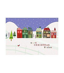 Image Arts® Christmas Village Box Of 40 Cards With Designed Envelopes
