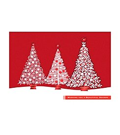 Image Arts® Red Glitter Trees Box Of 40 Cards With Designed Envelopes