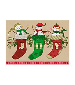 Image Arts® J O Y Snowman Stockings Box Of 16 Cards