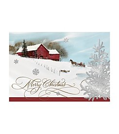 Image Arts® Merry Christmas Horse Barn Box Of 16 Cards