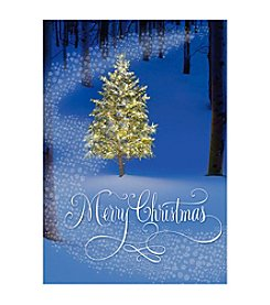 Image Arts® Merry Christmas Lit Up Tree Box Of 40 Cards With Seals