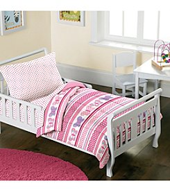 Dream Factory® Butterfly Dots Toddler Mini Bed-in-a-Bag