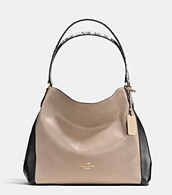 COACH EDIE SHOULDER BAG 31 IN COLORBLOCK EXOTIC  EMBOSSED LEATHER