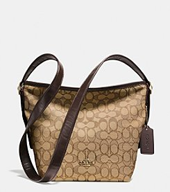 COACH MINI DUFFLETTE IN SIGNATURE JACQUARD