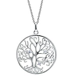 Silver-Plated Tree of Life Pendant Necklace