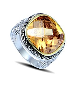 Designs by FMC Two-Tone Champagne Cubic Zirconia Ring