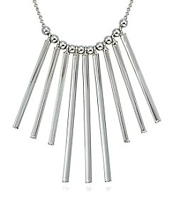 Designs by FMC Sterling Silver Linear Polished Bars Necklace