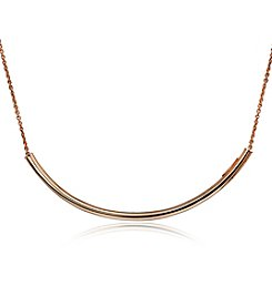 Designs by FMC Rose Gold-Plate Polished Bar Tube Necklace