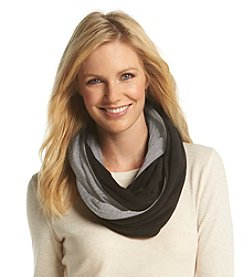 Isotoner Signature® Stretch Fleece Two Tone Infinity Scarf