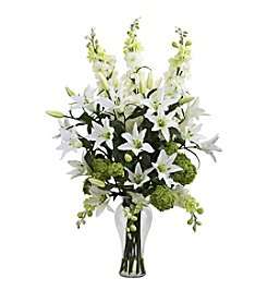 Nearly Natural® Lily, Delphinium and Hydrangea Silk Arrangement