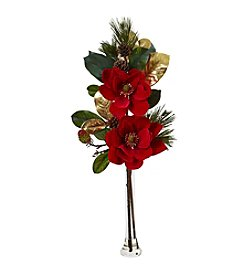Nearly Natural® Holiday Magnolia Arrangement