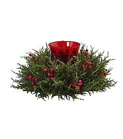 Nearly Natural® Cedar Berry Candelabrum