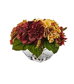 Nearly Natural® Autumn Hydrangea Berry with Vase
