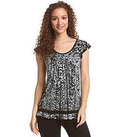 Ellen Tracy® Printed Lounge Top